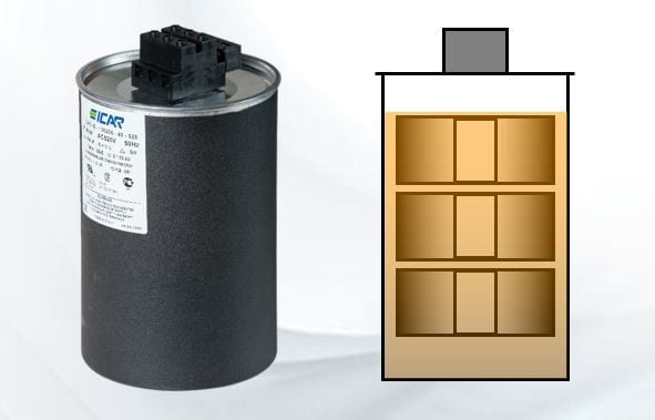 Polypropylene capacitors: comparison between the use of resin, oil or nitrogen as a filler